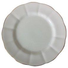 Royal Albert Bone China Countess White Luncheon Plate Gold Trim