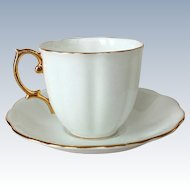 Royal Albert Bone China Countess White Cup and Saucer Gold Trim