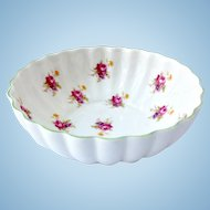 Shelley Bone China Rose Green Rimmed Nut Bowl