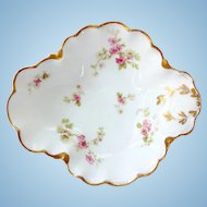 Haviland Limoges Pink Floral Open Candy Dish