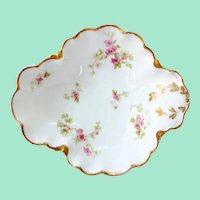Haviland Limoges Porcelain Pink Floral Open Candy Dish #426