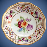 Schumann Bavaria Germany US Zone Chateau Dresden Flowers Nut dish