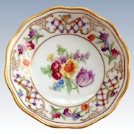 Schumann Bavaria Germany US Zone Chateau Dresden Flowers Nut dish