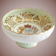 Paragon Bone China 1959 Commemorative E&P Royal Visit to Canada Pedestal Bowl