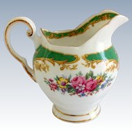 Tuscan Naples Green Floral Bone China Creamer