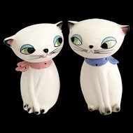 Holt Howard Large-Eyed Cozy Kittens Salt and Pepper Shakers ©1961