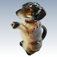 Begging Dachshund Dog Teapot Erphila U.S. Zone Germany
