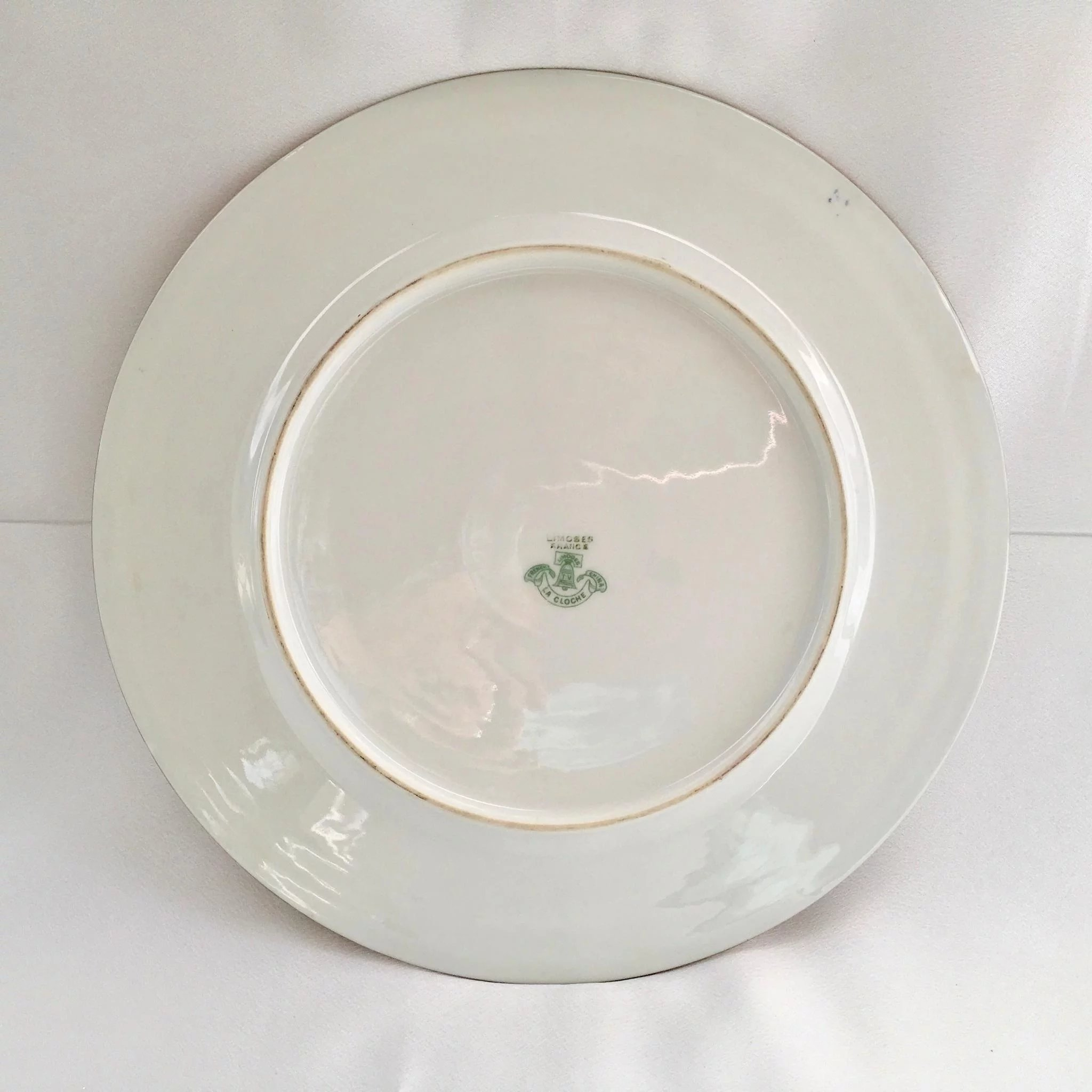 Click to expand & French China La Cloche Antique Gold Encrusted Dinner Plates Tu0026V ...
