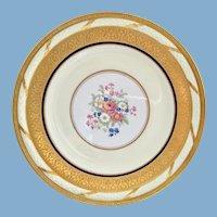 T&V Limoges France China Antique Gold Encrusted Dinner Plates La Cloche Set of Six