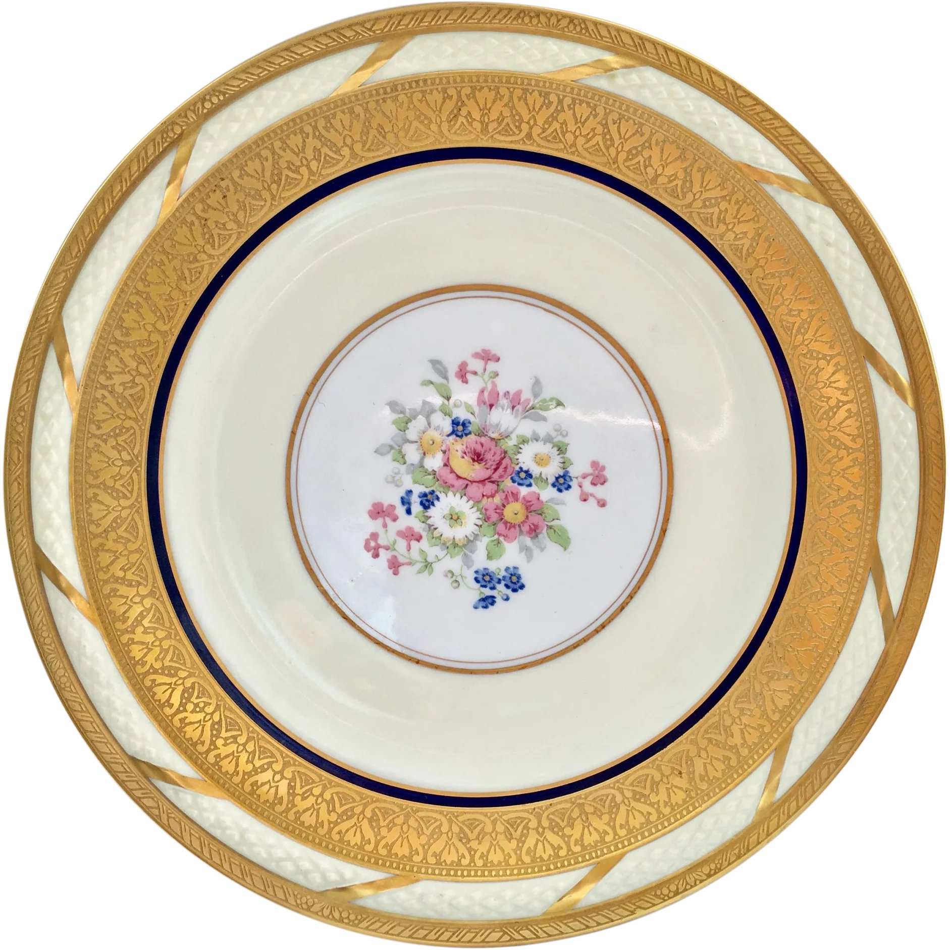 French China La Cloche Antique Gold Encrusted Dinner Plates T\u0026V  Maggie Belle\u0027s Memories | Ruby Lane  sc 1 st  Ruby Lane & French China La Cloche Antique Gold Encrusted Dinner Plates T\u0026V ...