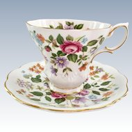 Royal Albert Bone China Random Harvest Series Devon Teacup and Saucer