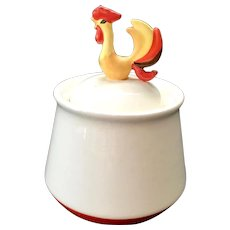 Holt Howard Coq Rouge Red Rooster Covered Sugar Bowl