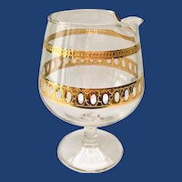 Culver Antigua Md-Century 22K-Gold Small Footed Brandy Pourer