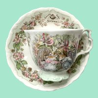 Summer by Royal Doulton Bone China Cup and Saucer Brambly Hedge Collection