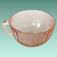 Hazel-Atlas Fruits Pink Depression Glass Cup