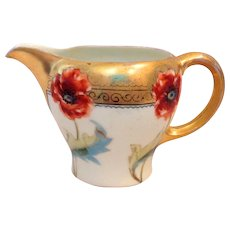 Rosenthal Pickard Hand Painted Poppies Creamer Artist Signed HEM Early 1900s