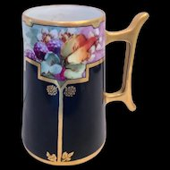 Hutschenreuther Favorite Bavaria Early 1900s Tankard Hand Painted Signed M. Perl