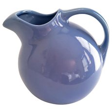 Hall China Cadet Blue Ball Jug #3 Pitcher with Ice Lip