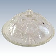 Federal Glass STAR Mid Century Round Butter Dish and Cover