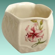 Belleek Ireland Country Trellis Lily Votive Candleholder