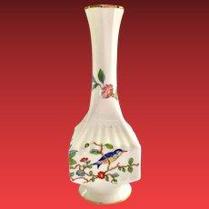 Aynsley Pembroke Imari Colors Bird Motif Bone China Bud Vase