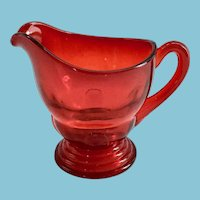 New Martinsville Moondrops Red Depression Glass Creamer