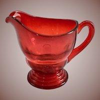 New Martinsville Moondrops Red Depression Glass Creamer