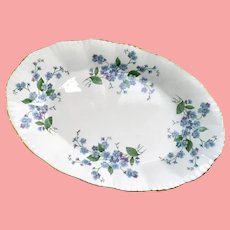 Paragon Bone China Forget-Me-Not Small Oval Plate