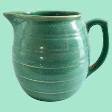 Weller Pottery Aqua Green 6-1/2 Inch Stoneware Utility Pitcher