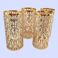 Imperial El Tabique De Oro 22-Karat Gold Highball Tumblers - Set of Four