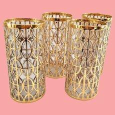 Imperial El Tabique De Oro 22-Karat Gold Highball Tumblers - Set of Four