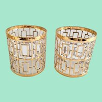 Imperial Glass Golden Shoji 22K-Gold Old Fashioned/On The Rocks Tumblers - Set of Two