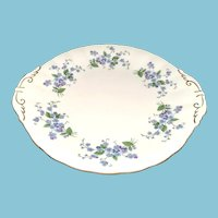Paragon Bone China Forget-Me-Not Handled Cake Plate