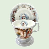 Winter by Royal Doulton Cup and Saucer from the Brambly Hedge Collection