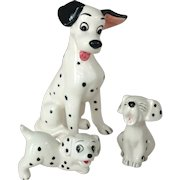 Vintage Pongo and Two Pups Disney Dalmatian Figurines