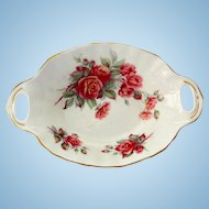 Royal Albert Bone China Centennial Rose Two Handled Candy Dish