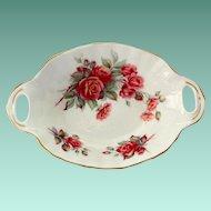 Royal Albert Bone China Centennial Rose Two Handled Candy Dish