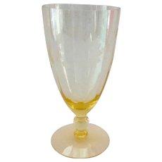 Standard Glass 10-Ounce Footed Ice Tea Tumbler #1200 Cut Paneled Optic Circa 1930s