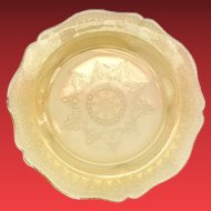 Federal Patrician Spoke Amber Depression Glass Dinner Plate