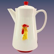 Holt Howard Coq Rouge Red Rooster 1960s Electric Coffee Pot