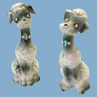 Enesco E-3344 Gray Poodle Salt and Pepper Shakers with Rhinestone Eyes