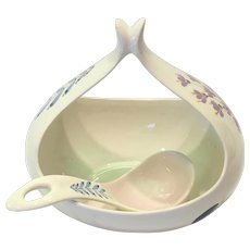 HallCraft by Eva Zeisel Tomorrow's Classic Gravy Boat and Ladle Bouquet #1881