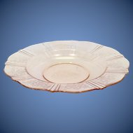 American Sweetheart Depression Glass Pink Rimmed Soup by MacBeth Evans