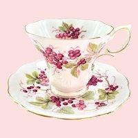 Random Harvest Series Kent Grapevine Teacup and Saucer Royal Albert Bone China