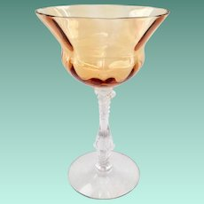 Cambridge #3126 Elegant Glass Amber Tall Sherbet