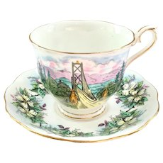 Royal Albert Bone China Hudson's Bay Company Lion's Gate Bridge Teacup and Saucer