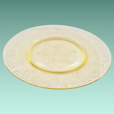 Florentine/Poppy No.2 Yellow Depression Glass Luncheon Plate Hazel-Atlas