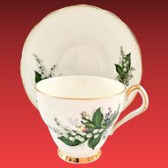 Royal Windsor Bone China Lily of the Valley 2577 Teacup and Saucer