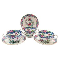 Spode England Spode's Regal 25404 Bouillon Cups and Saucers - Set of Three