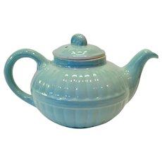 Hall China 1940s Light Blue Murphy Teapot - Victorian Series
